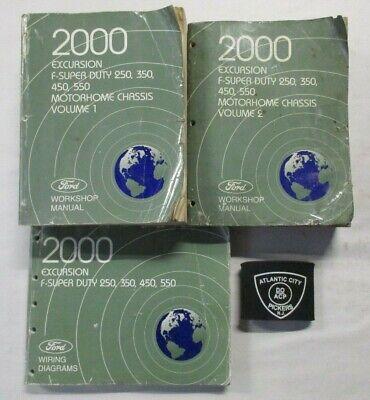 [TBQL_4184]  2000 FORD F-SUPER DUTY EXCURSION 250 350 450 550 SERVICE MANUAL & WIRING  DIAGRAM   eBay   2000 Ford F 250 Wiring Diagram Chassis      eBay