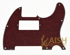 Tele Style Humbucker Pickguard Scratch Plate Red Pearl Fits Telecaster 3 Ply