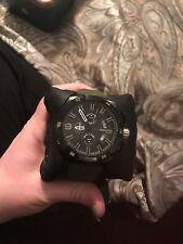 New Diesel DZ4396 Heavyweight Black Dial Olive Green Silicone Strap Men's Watch