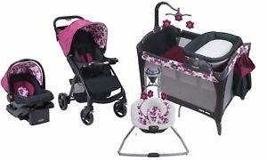 Graco Baby Stroller Car Seat Playard Crib Infant Swing Combo Set ...