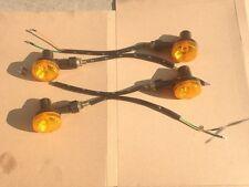Nuevo 4 X 6V Indicadores Ámbar Moto Luz Intermitente De Señal de Vuelta Luces 6 voltios