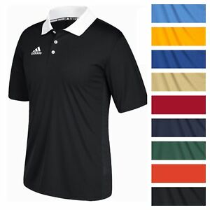 adidas Men's Game Built CLIMALITE Polo Athletic Coaching Casual Golf T-Shirt Tee