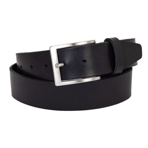 en cuir véritable Hommes Cuir Ceinture 4 cm large noir ceinture en nœud Libre à 175
