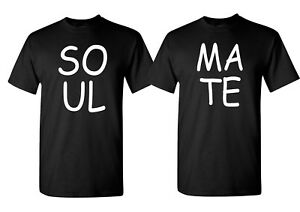 Image Is Loading Couple Matching T Shirt Soul Mate Set Valentine