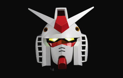 GUNDAM HEAD CASE 1//7 40th Anniversary Limited Edition Movable lighting JAPAN