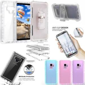NEW-Shockproof-Hybrid-Samsung-Galaxy-Note-Clear-Cover-Case-BELT-CLIP-HOLSTER