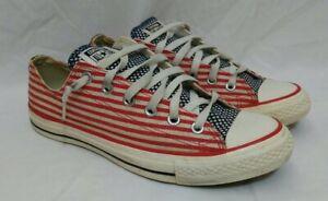 Converse Chuck Taylor Usa Vermelho Branco Azul Bandeira Americana ...
