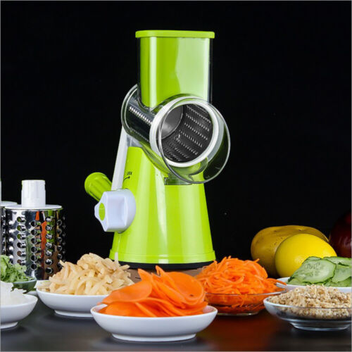 Manual Potato Roller Cutter Round Steel Blade Kitchen Vegetable Slicer Julienne