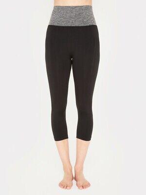 manuka m life yogi capri yoga / running pants  black size