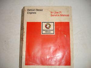Detroit Diesel Inline In-Line Series 71 Engine Service Shop Repair Manual 5/76