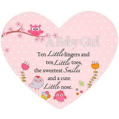 Baby Girl Heart Sentiment Wall Plaque Gift 45937
