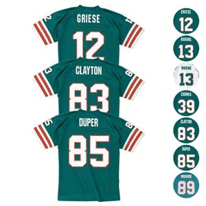 4d5566be Details about Miami Dolphins NFL Mitchell & Ness Home & Road Legacy Jersey  Collection Men's