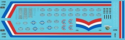 8541 HO scale Chicago bicentennial decals