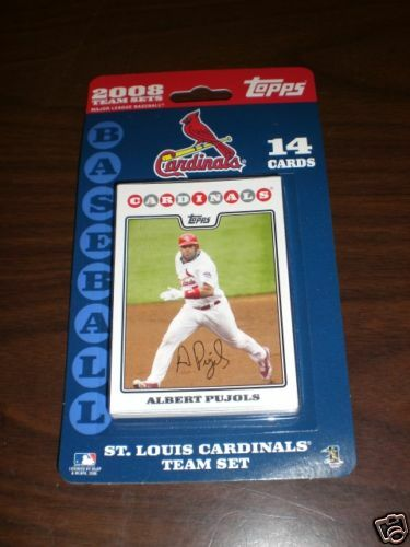 St Louis Cardinals 2008 Topps Team Sets Baseball Cards