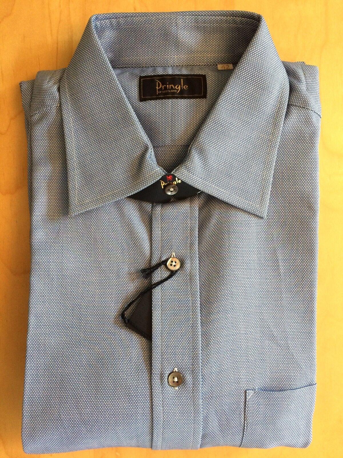 Men's Pringle of Scotland bluee Button-Up Shirt size 42 L