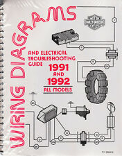 1991-1992 Harley Wiring Diagram Schematic Electrical Troubleshooting Manual ALL
