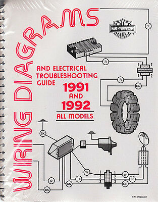 1991 1992 harley wiring diagram schematic electrical troubleshooting Harley Fuel Lines Diagram
