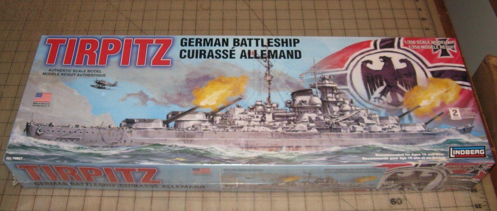Lindberg WWII German Battleship TIRPITZ Plastic Model Kit 1 350 Scale NEW