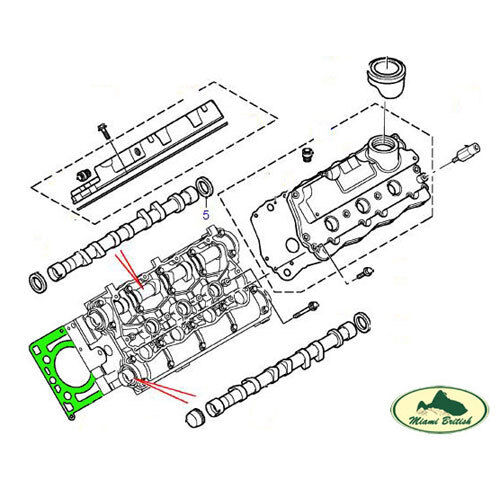 LAND ROVER CYLINDER HEAD GASKET SET FREELANDER 2.5L V6 02-05 LVB101630L PR2