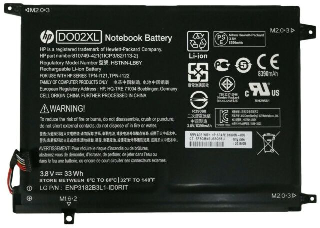 Genuine HP Pavilion X2 10-N Battery 3.8V HSTNN-LB6Y DO02XL TPN-I121 810985-005