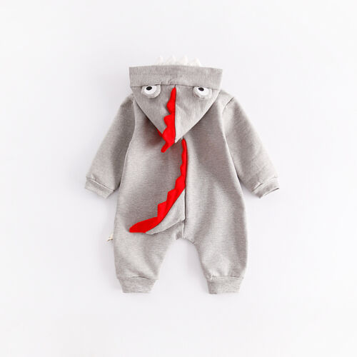 NEW NEWBORN BABY DINOSAURS HOODED ROMPER BABYGROWS BABY BOY GIRL CUSTUME OUTFIT