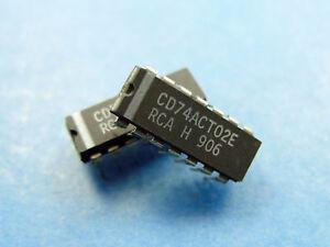 Quad 2-Input NOR Gate 5x CD74ACT02E RCA 74ACT02 IC