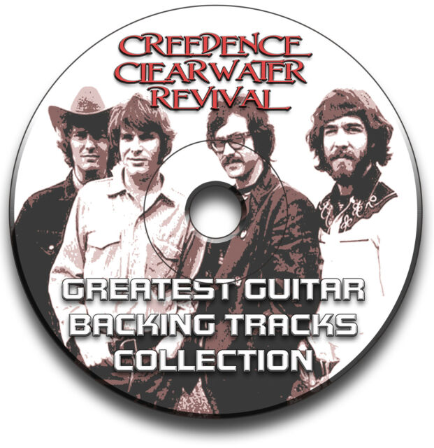 CREEDENCE CLEARWATER REVIVAL STYLE ROCK GUITAR AUDIO JAM TRACKS CD LIBRARY