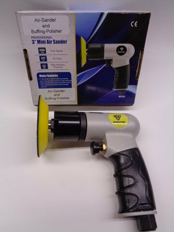 """Air Sander with Velcro Backing Pad 1 x 3"""" $79.95 Free Delivery"""