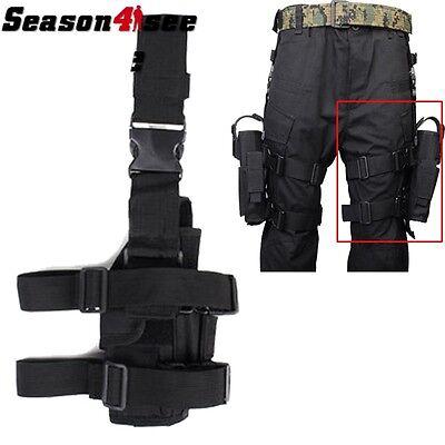 Tactical Hunting 600D Airsoft Pistol Drop Leg Left Hand Gun Pouch Holster Black