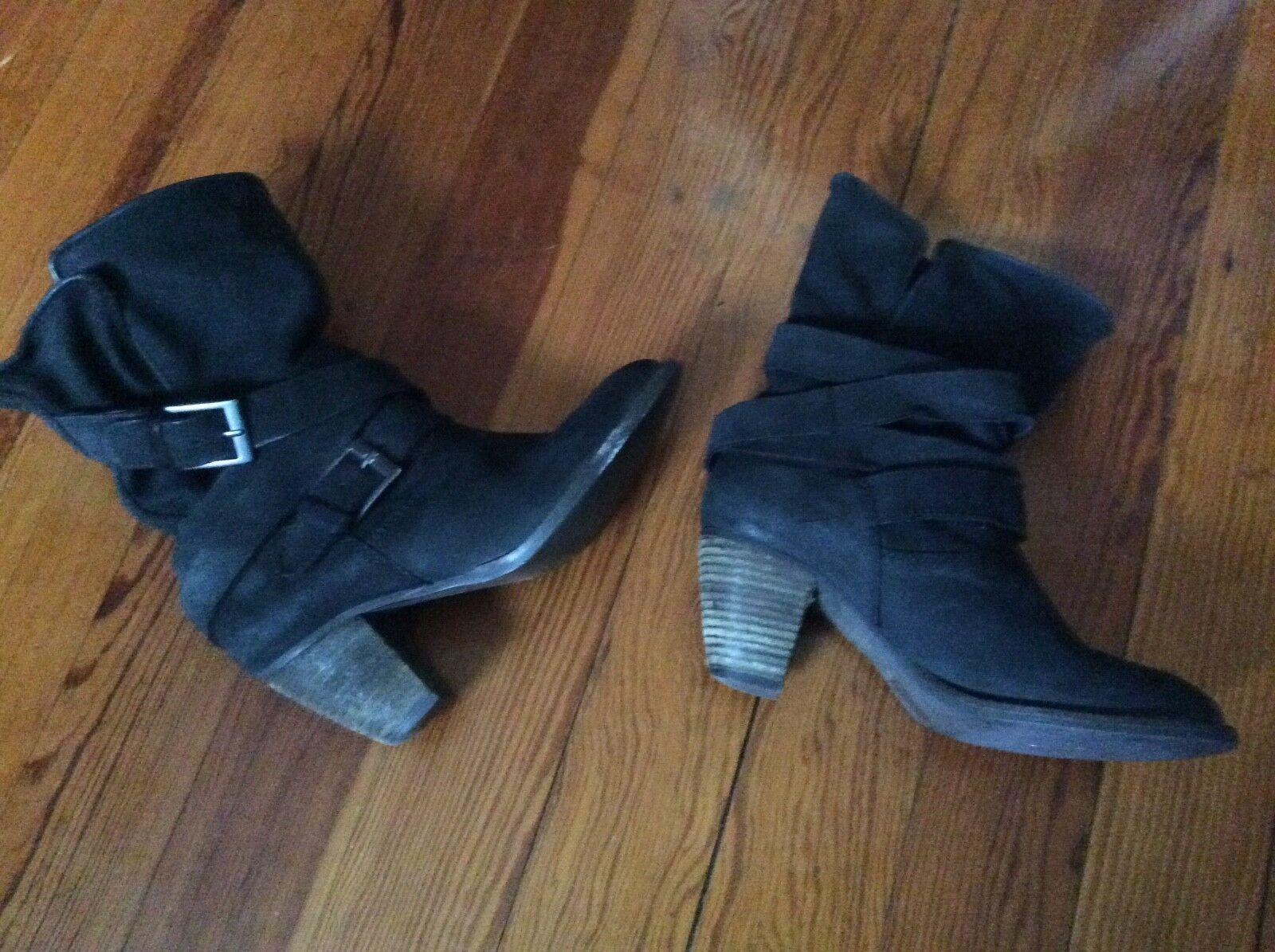 Women's Steven by Steve Madden black leather booties size 8