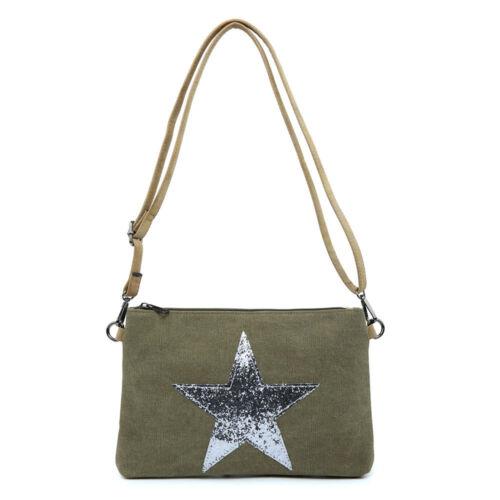 Woman Lady Super Neat Canvas S-Medium Messenger Cross Body Shoulder Star Bag
