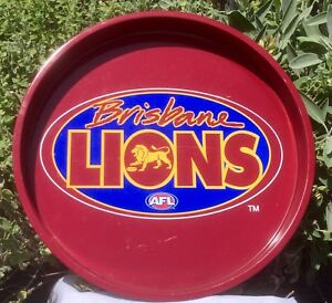 Image Is Loading BRISBANE LIONS AFL METAL BEER DRINK SERVING TRAY