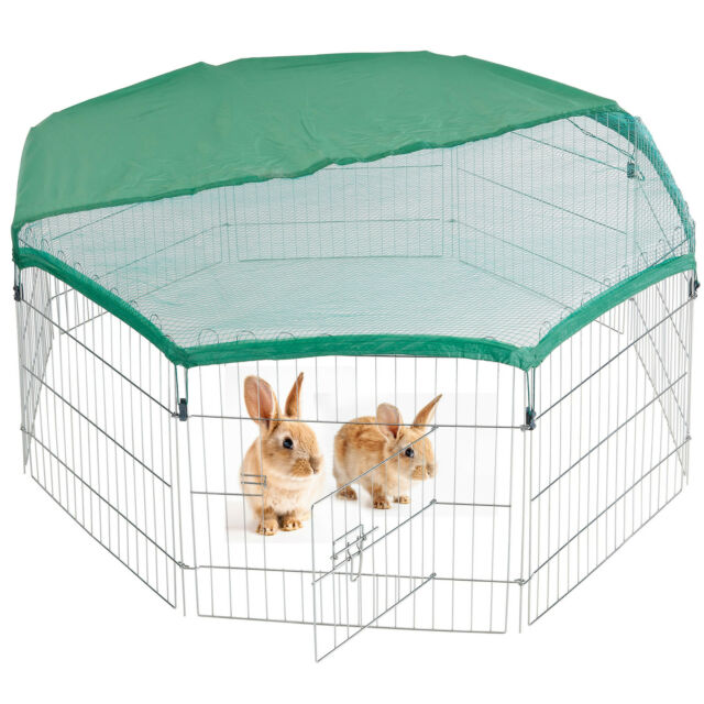 eSecure Large 8 Sided Steel Pet Play Pen Rabbit Puppy Dog Run With ...