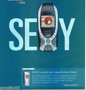 PUBLICITE ADVERTISING 075  2003  Les mobiles SIEMENS MC 60