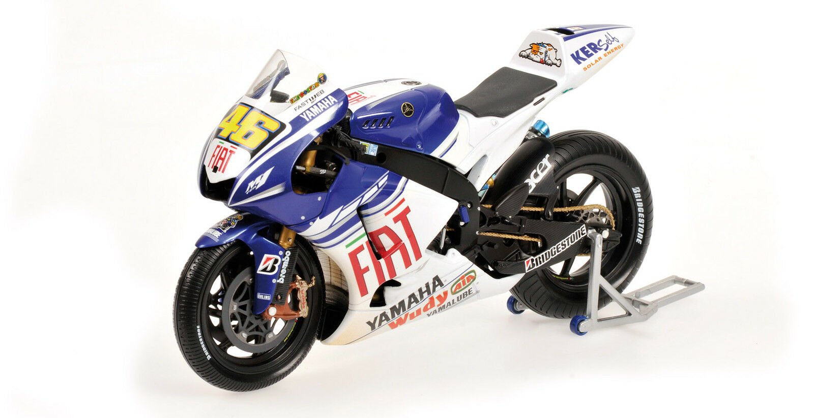 Yamaha YZR-M1 Valentino Rossi Wet Dirty Version 2008 Winner Indianapolis 1 12