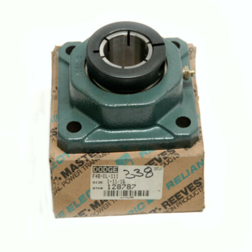 "NEW Dodge F4B-DL-111 Four-Bolt Flange-Mount Ball Bearing Unit 1-11//16/"" Bore"