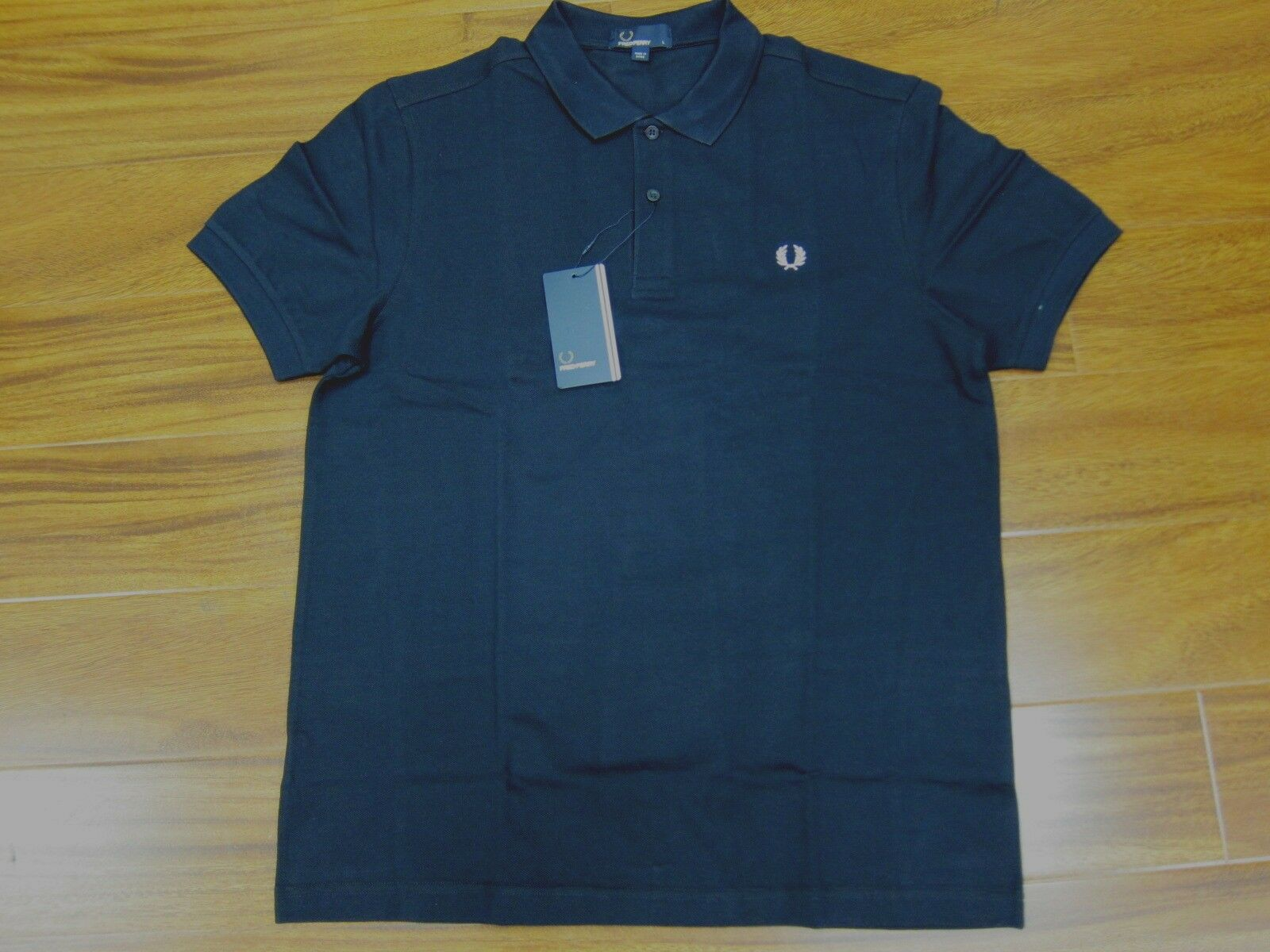 Fred Perry Cotton Pique Polo Shirts Plain Fit  M6000 Navy