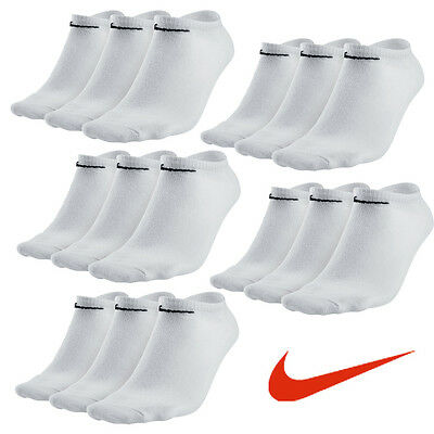 15 Paar NIKE Sneaker Socken weiss 38-42  & 42-46 NEU 15er Pack Füßlinge No Show