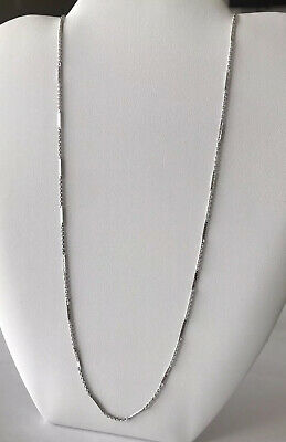 FULL SIZE Vintage Solid S925 Sterling Silver Cuboid Cable Chain Men Necklace