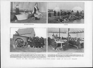 1901-Antique-Print-HAMPSHIRE-HAYLING-ISLAND-Father-Dollings-Girl-Camp-08