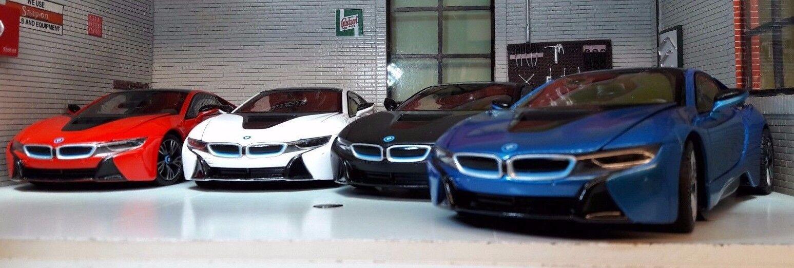 1 24 Echelle BMW I8 1.5 Coupe 4x4 électrique Enfichable Hybride Très détaillé