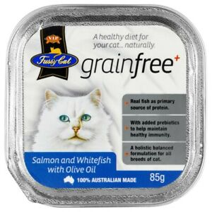 V.I.P. Fussy Cat Grainfree Salmon & Whitefish with Olive Oil Cat Food 85g