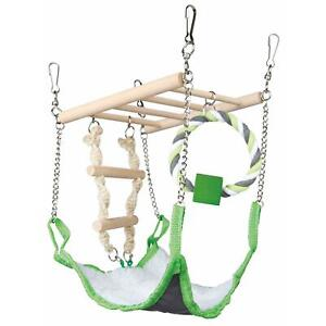 Trixie-Suspension-Bridge-Hanging-Toy-with-Hammock-Bed-Hamster-Mouse-Cage-Nest