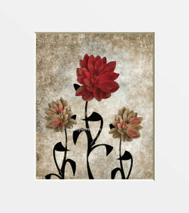 Red Brown Home Decor Bedroom Bathroom Wall Art Matted Picture Ebay