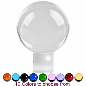 3.1 in (80mm) Crystal Ball Meditation Lensball Sphere with Free Crystal Stand