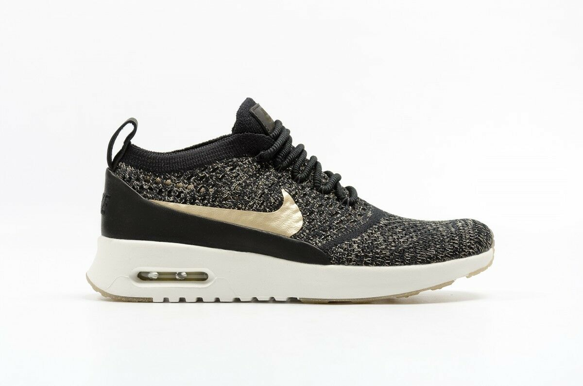 superior quality 16704 3b31f Nike WOMEN S Air Max Thea Ultra FLYKNIT Metallic Gold SIZE SIZE SIZE 10.5  NEW 1d045b