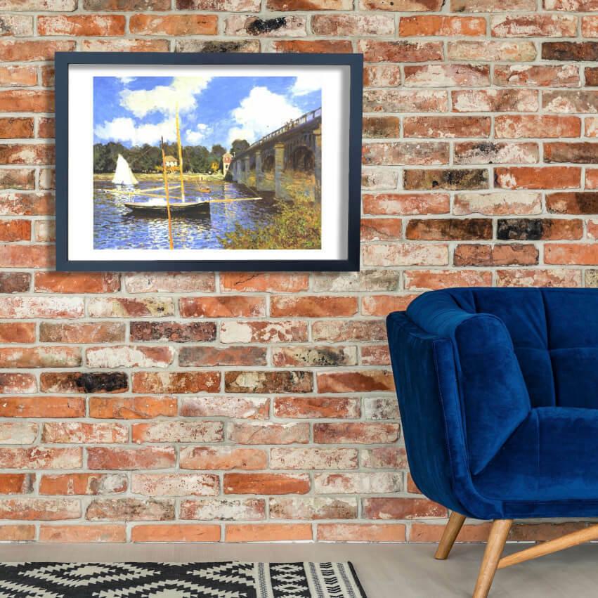 Claude Monet - Bridge in Silbereuil Wall Art Poster Print
