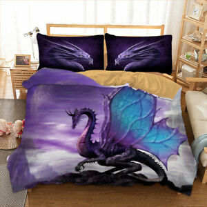 Summer-Newly-Dragon-Duvet-Cover-Set-Twin-Queen-Size-Bedding-Set-Animal