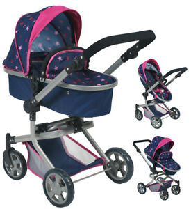 Bayer Chic 2000 Doll Carts Mika 2in1 (étoiles Marine)