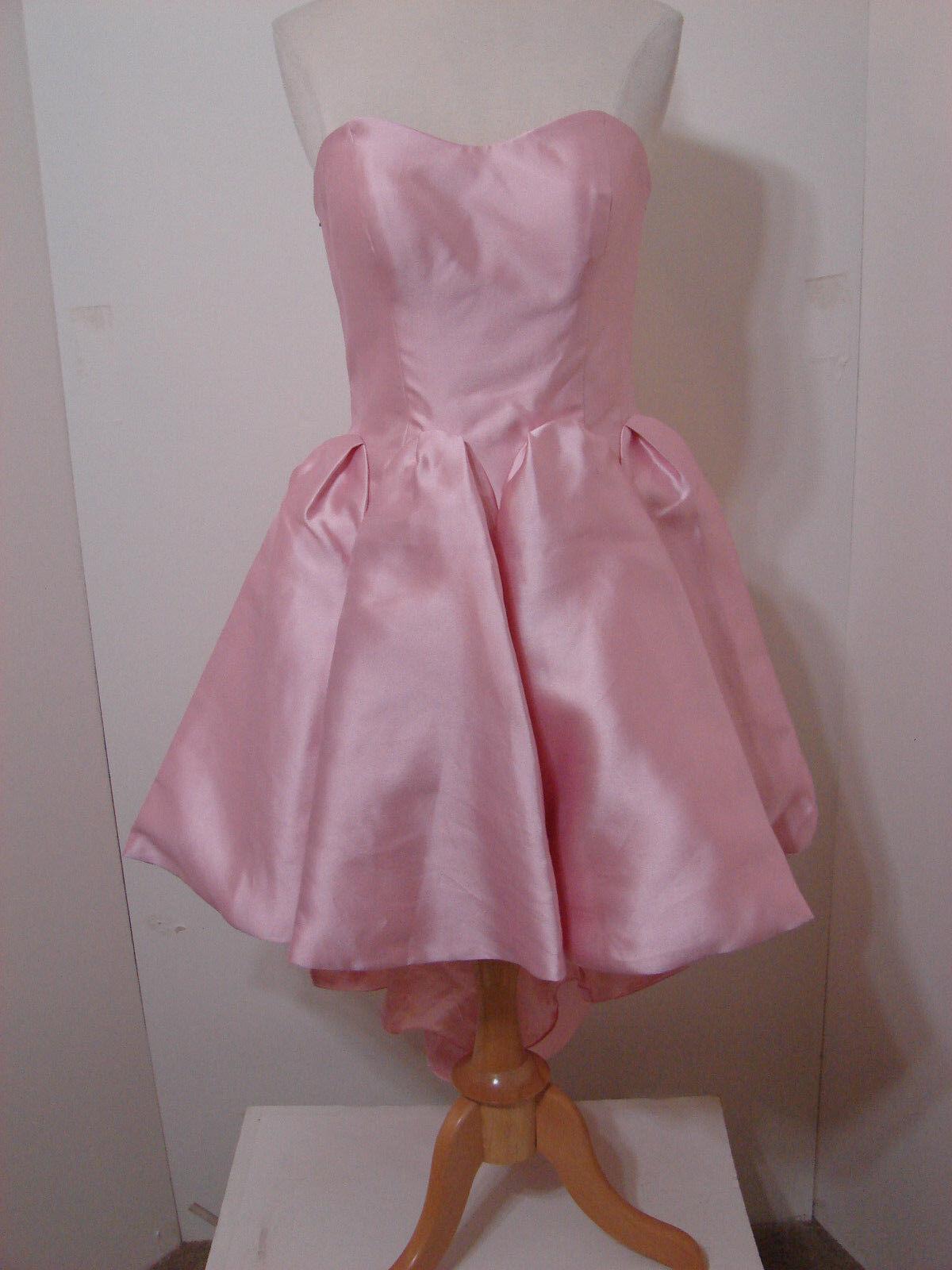 SHERRI HILL Pink Strapless Sweetheart Asymmetrical Hem Dress NWT 6